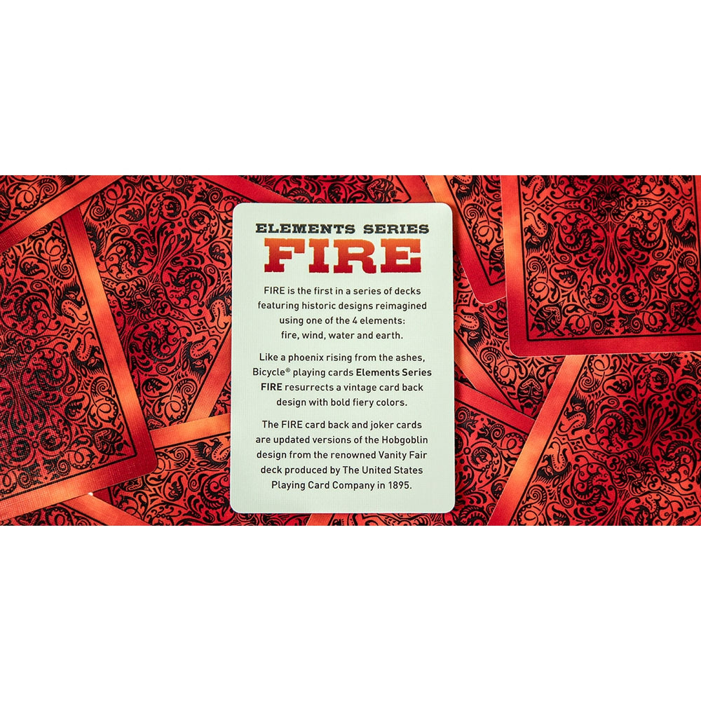 Bicycle Fire Playing Cards