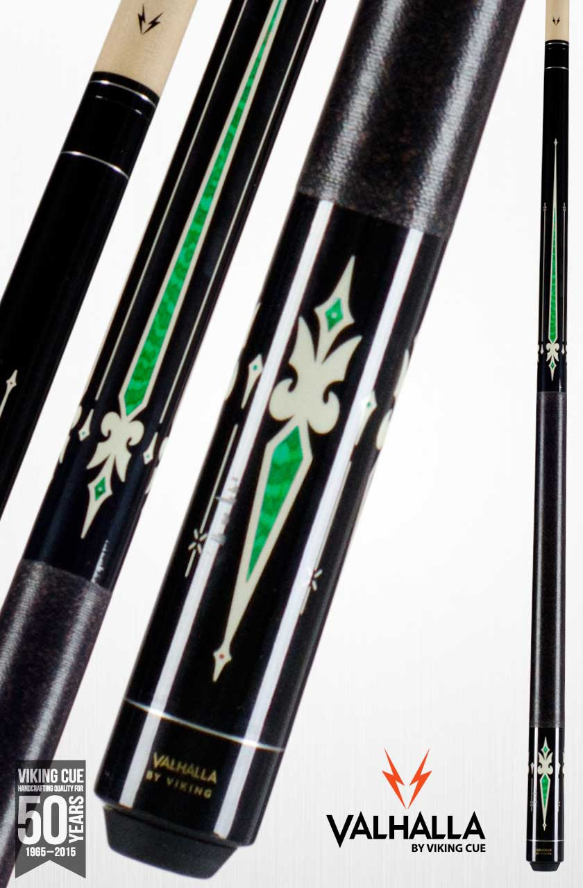Valhalla By Viking Va321 Black Green Pool Cue Stick