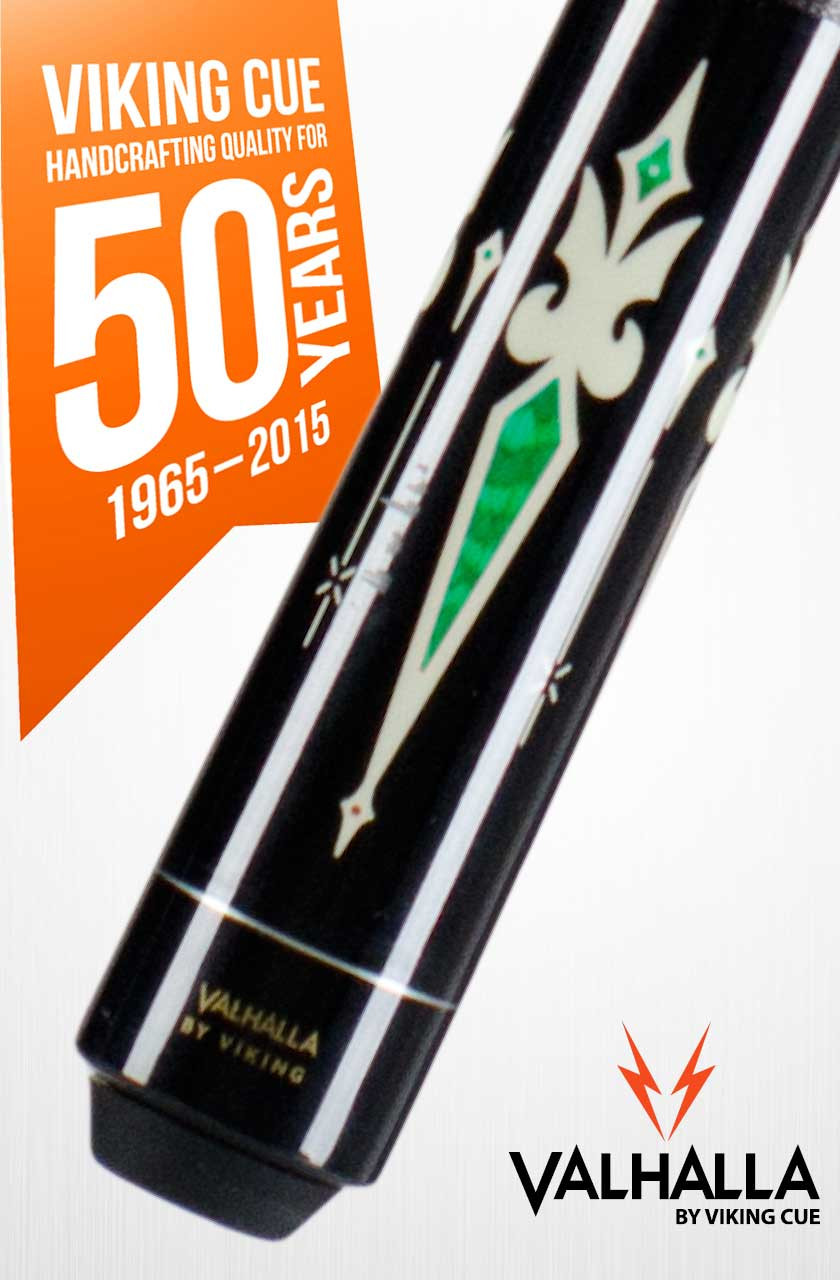 Viking Valhalla VA321 Black/Green Pool Cue Stick