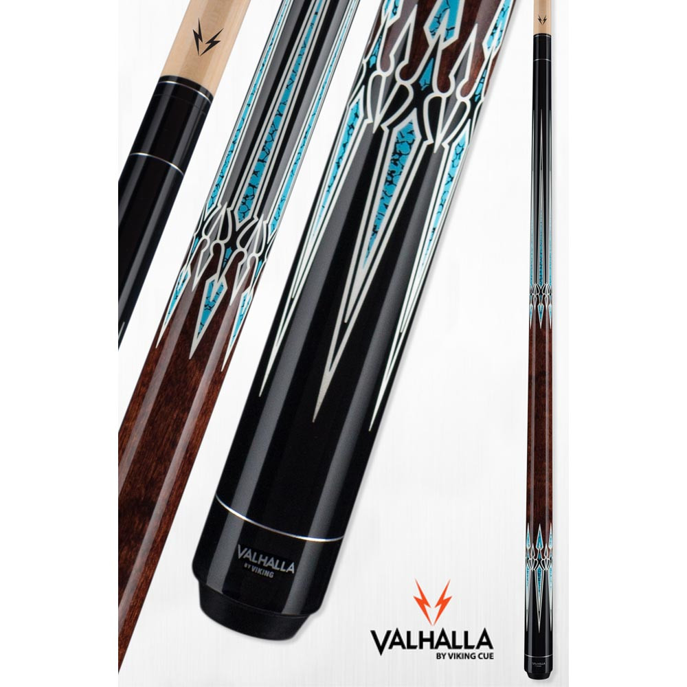Valhalla VA951 Brown and Turquoise Pool Cue Stick from Viking Cue
