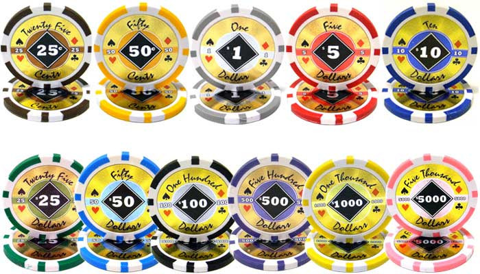Black Diamond 14 Gram Clay Composite Poker Chips