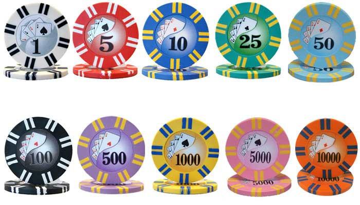2 Stripe Twist 8 Gram Clay Composite Poker Chips