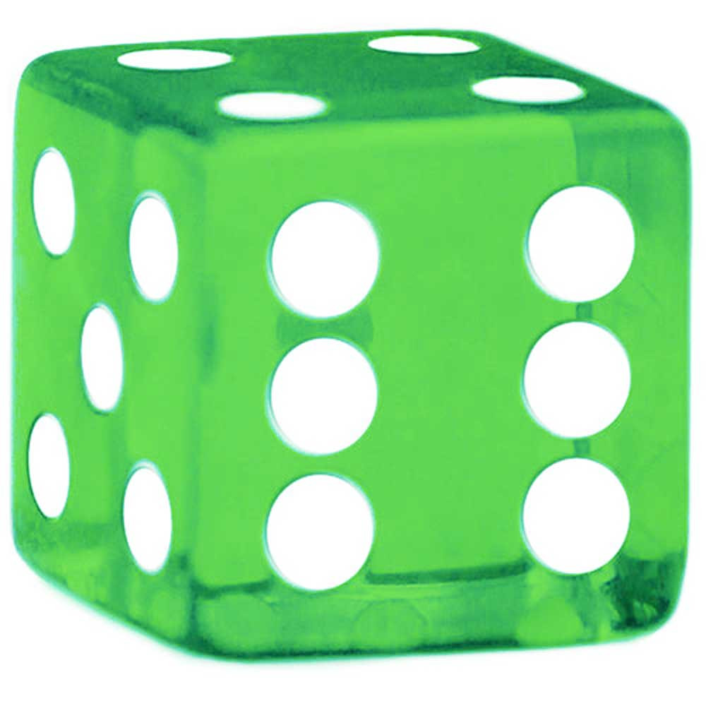 Rounded Corner 16mm Green Dice