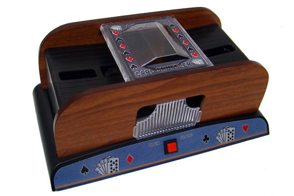 2 Deck Deluxe Wooden Automatic Playing Card Shuffler