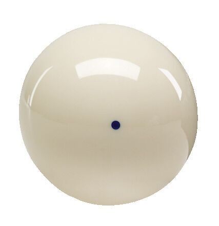 "Aramith 2 1/4"" Cast Phenolic Cue Ball with Blue Dot"