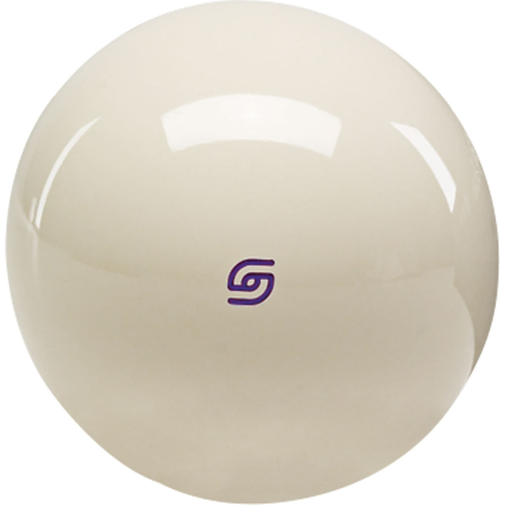 Aramith Tournament Magnetic Cast Phenolic Cue Ball with Purple Logo