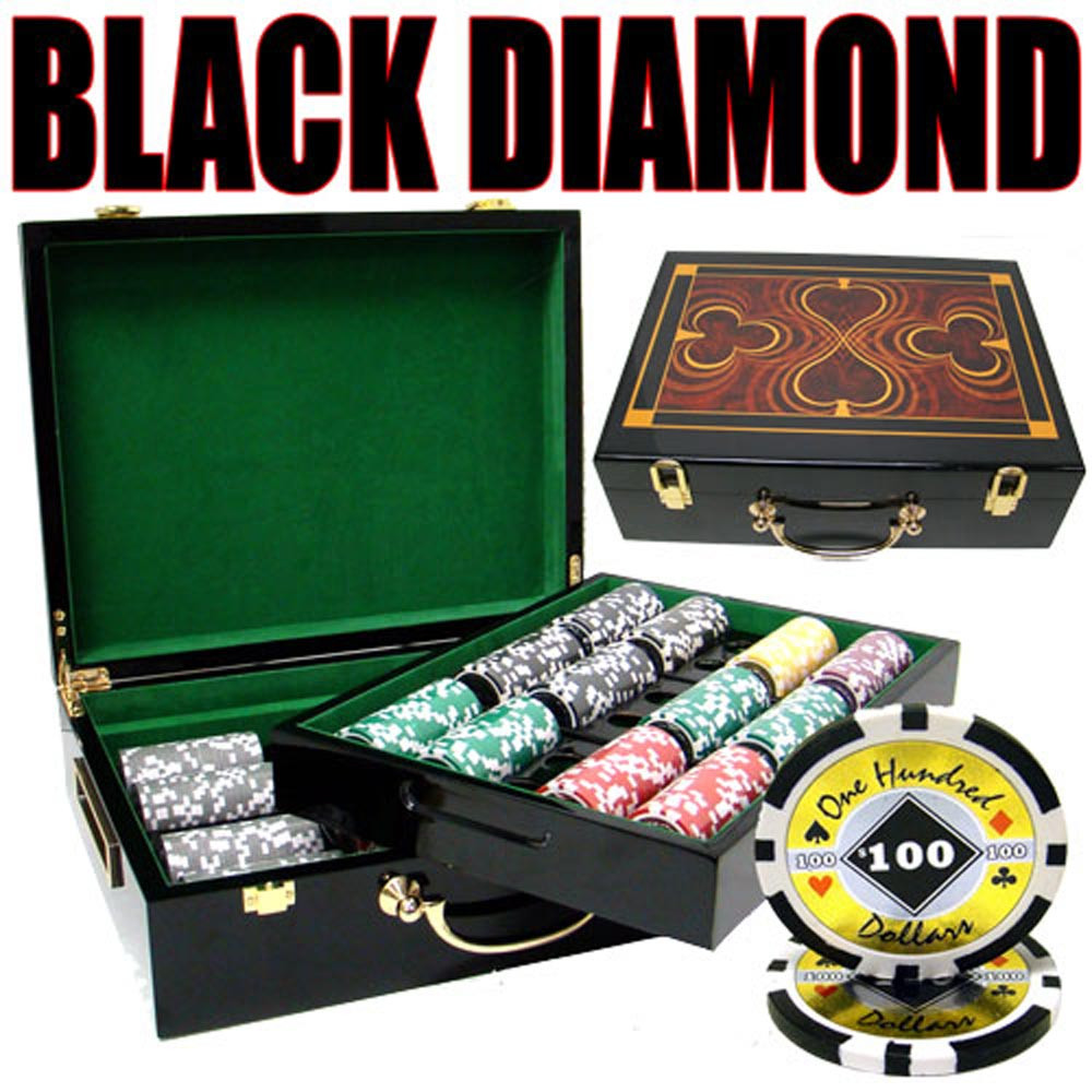 Black Diamond 14 Gram 500pc Poker Chip Set w/Hi Gloss Casel