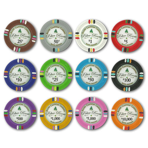 Bluff Canyon 13.5 Gram Clay Composite Poker Chips