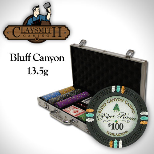 Bluff Canyon 300pc Poker Chip Set w/Aluminum Case