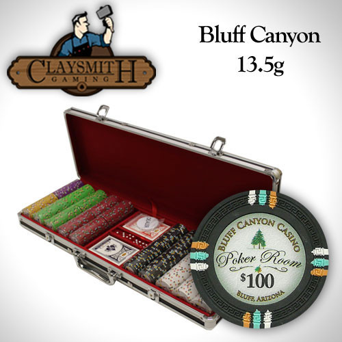 Bluff Canyon 500pc Poker Chip Set w/Black Aluminum Case