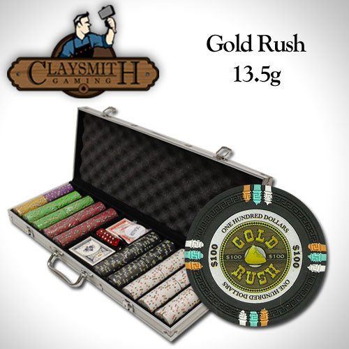 Gold Rush 500pc Poker Chip Set w/Aluminum Case