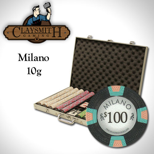 Claysmith Milano 1000pc Poker Chip Set w/Aluminum Case