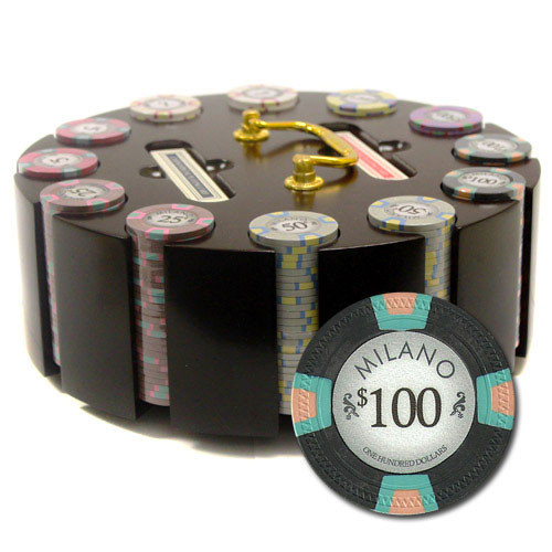 Claysmith Milano 300pc Poker Chip Set w/Wooden Carousel