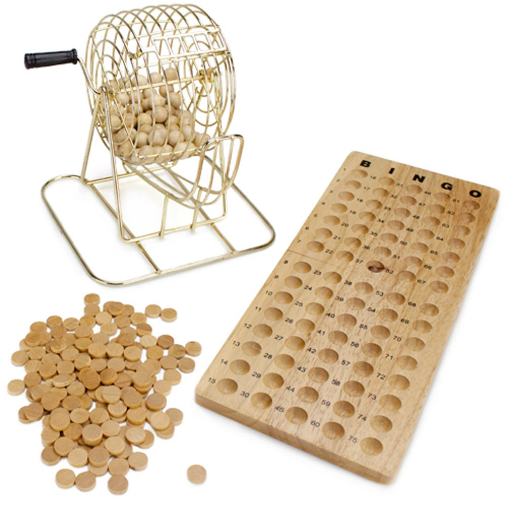Deluxe Wooden Bingo Game Set