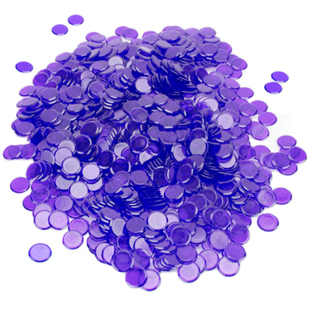 1000 Pack Purple Bingo Marker Chips