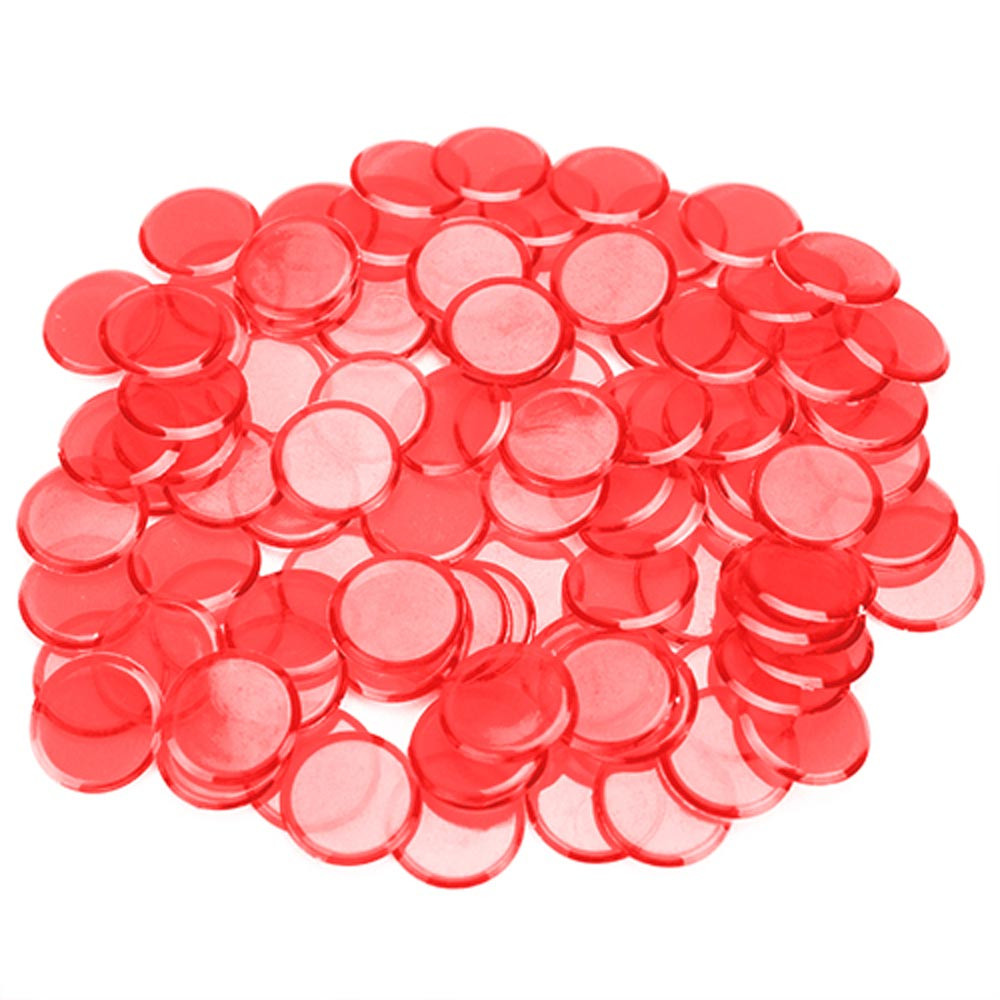 100 Pack Red Bingo Marker Chips