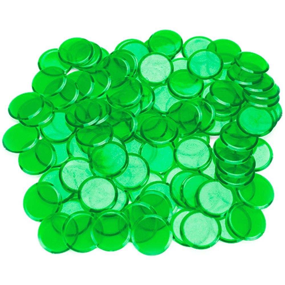 100 Pack Green Bingo Marker Chips
