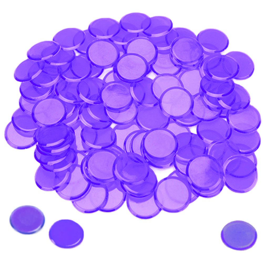 100 Pack Purple Bingo Marker Chips