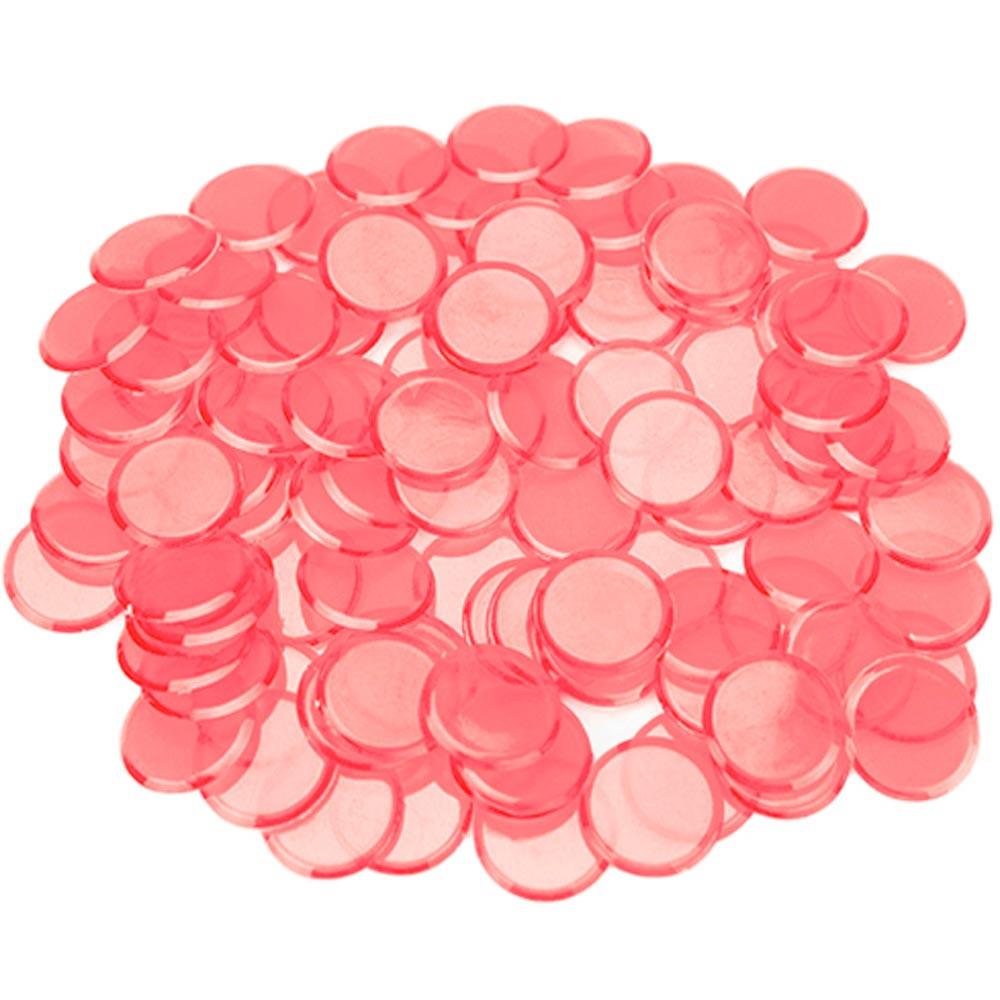 100 Pack Pink Bingo Marker Chips