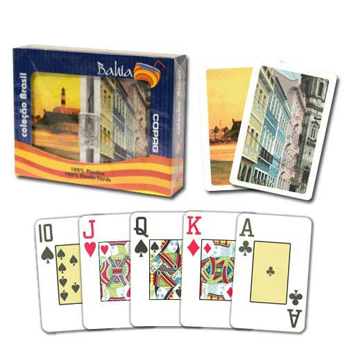 COPAG Bahia Plastic Playing Cards, Bridge SIze, Jumb Index