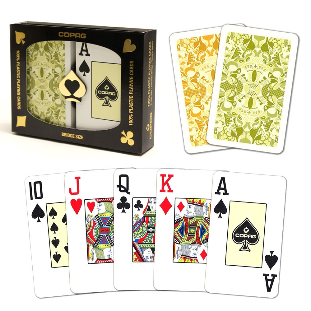 COPAG Plastic Playing Cards, Misto Saraswati Bridge Jumbo