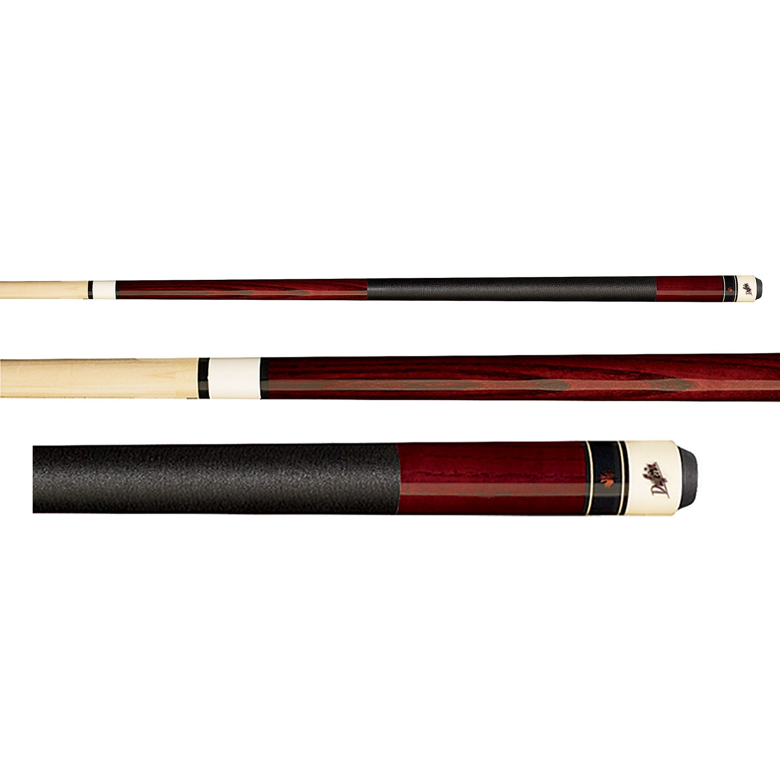 Dufferin D-236 Deep Red Stained Pool Cue Stick