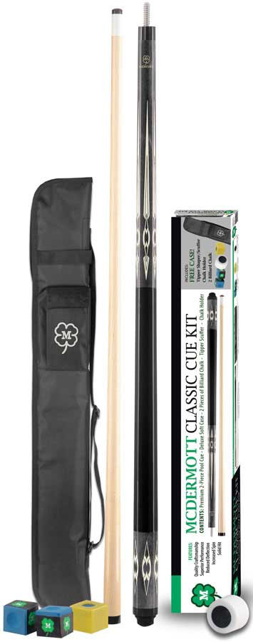 McDermott KIT4 Classic Pool Cue Kit w/Case