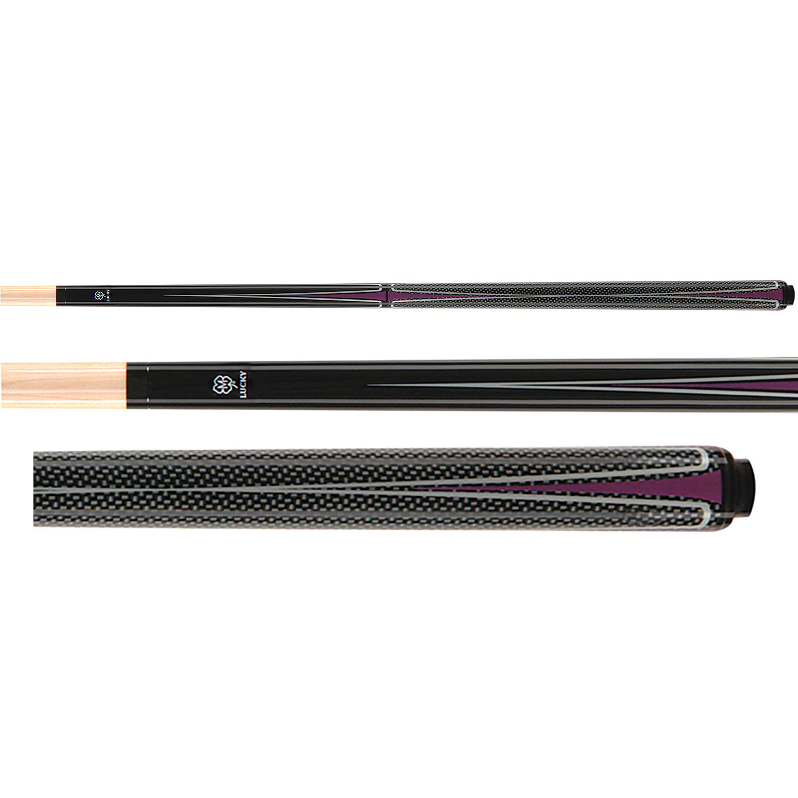Lucky Pool Cue, L44, Purple
