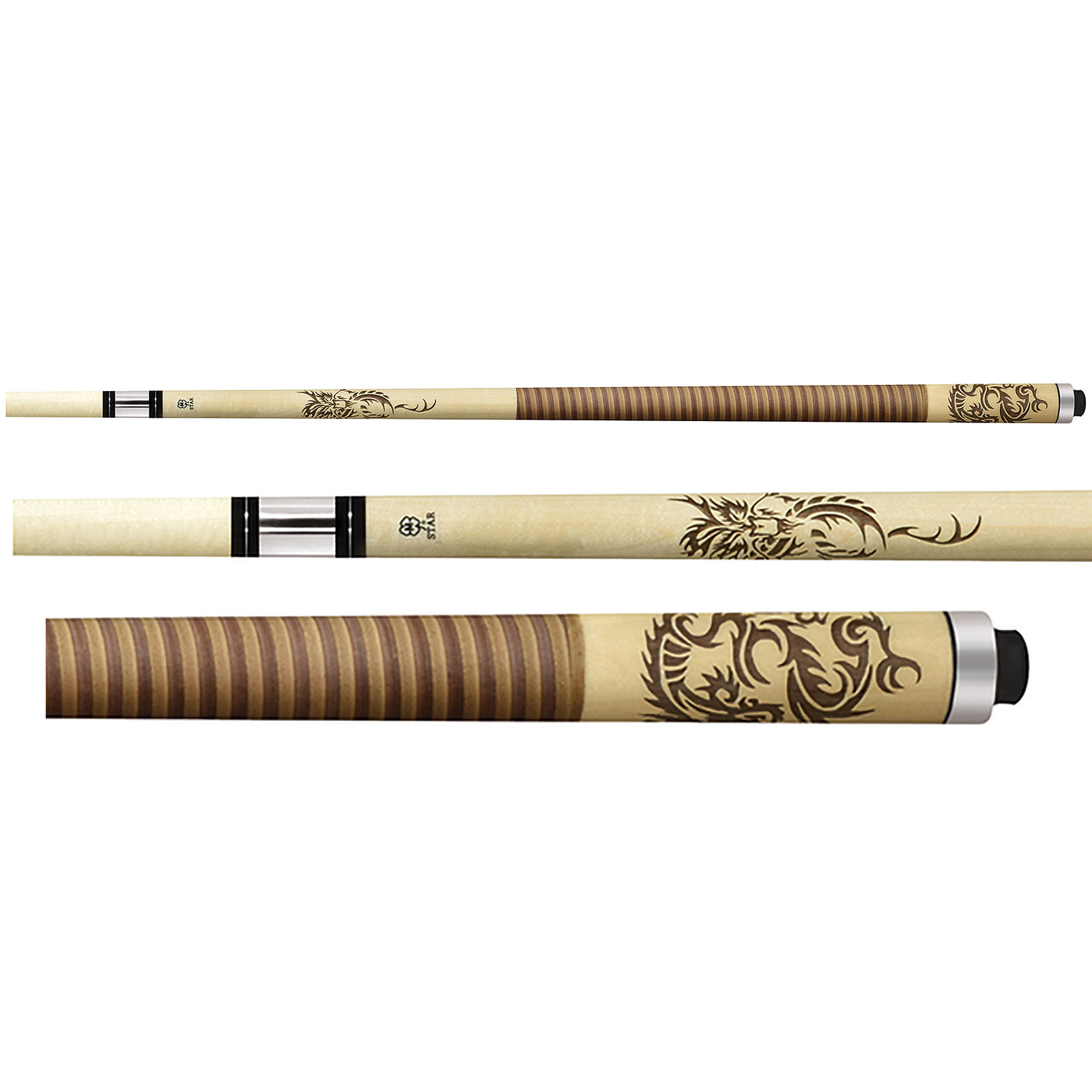 McDermott Star S64 Dragon Pool Cue - Brown