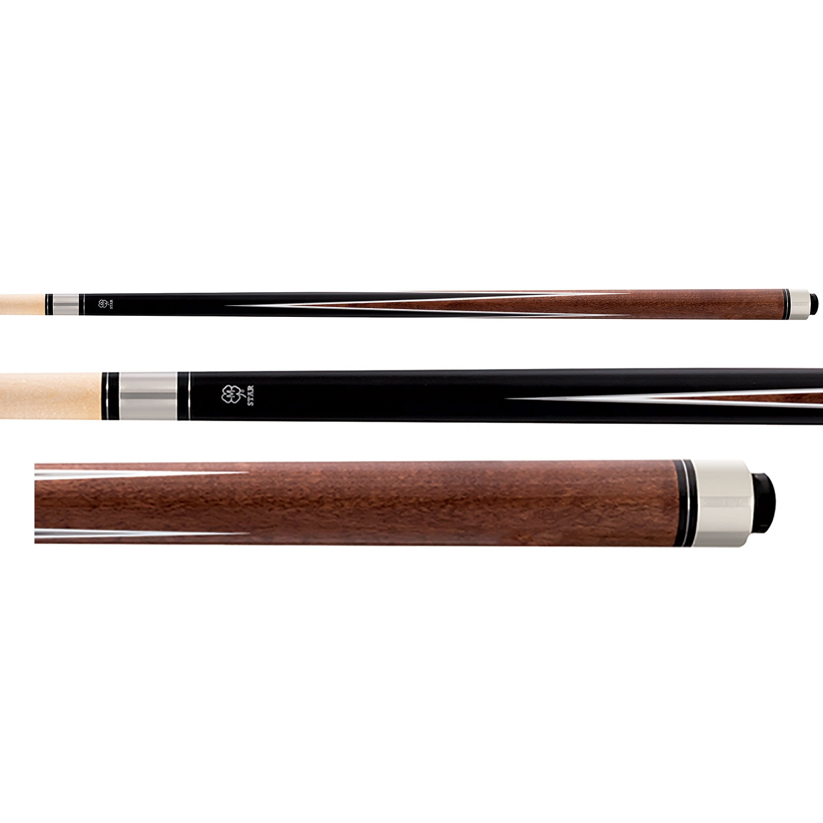 McDermott Star S70 Pool Cue - Black/Brown