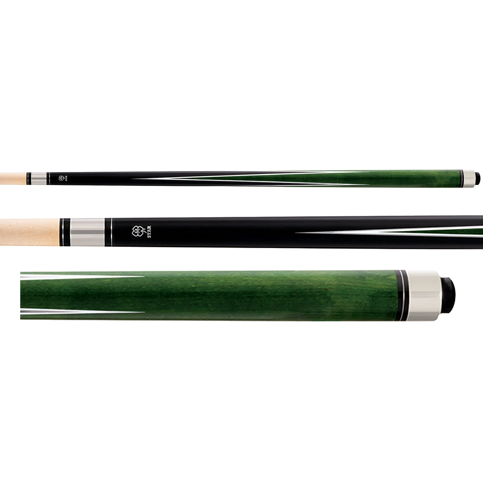 McDermott Star S71 Pool Cue - Black/Green