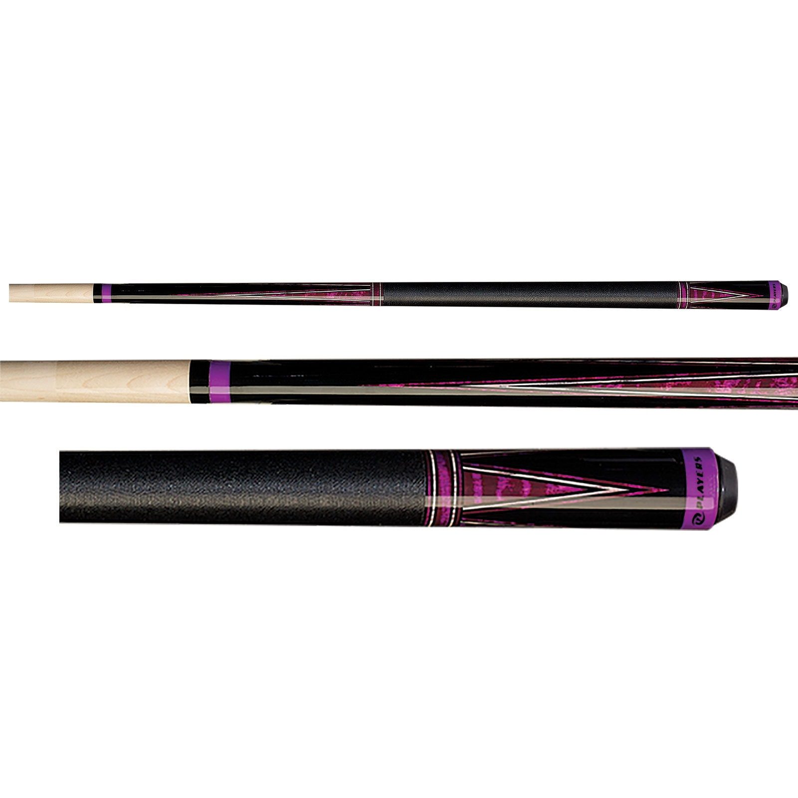 Players C-812 Black & Purple Pool Cue