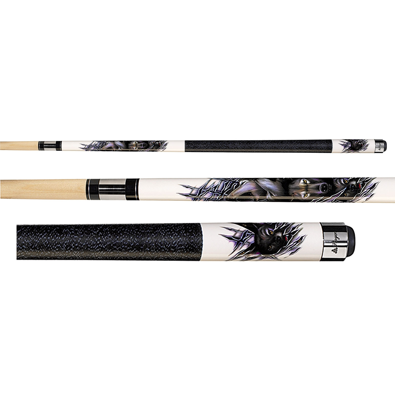 Players D-CWWP Howling Wolves Graphic Pool Cue Stick