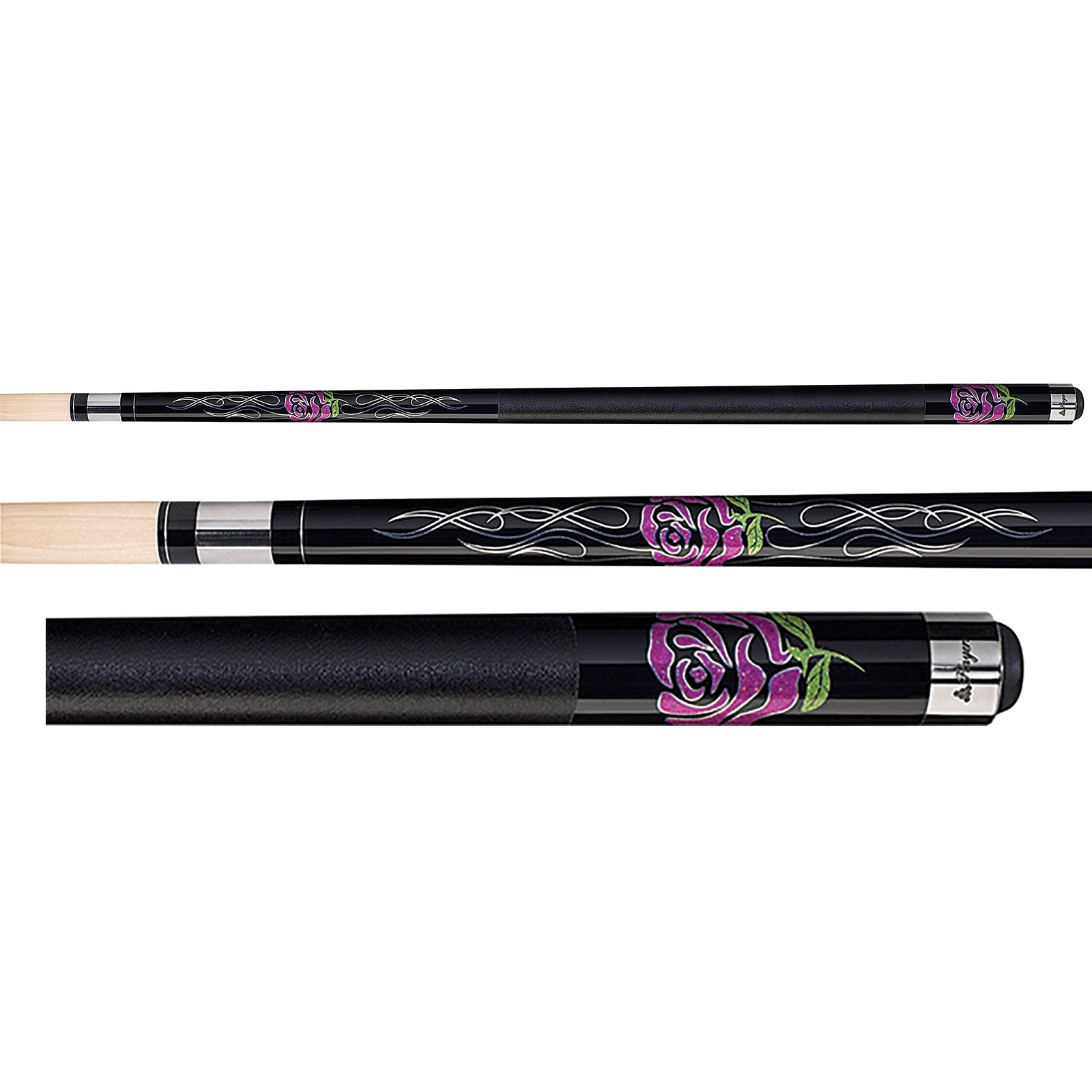 Players F-2770 Flirt Chic Pink Rose Women's Pool Cue Stick