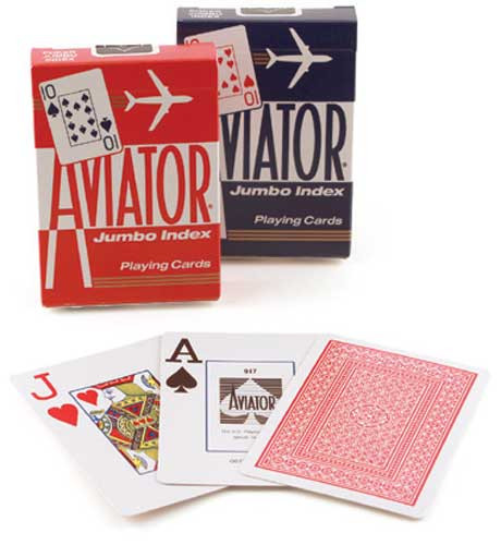 Aviator Jumbo Index Playing Cards
