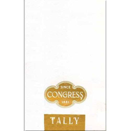 Congress White & Gold Tally Cards