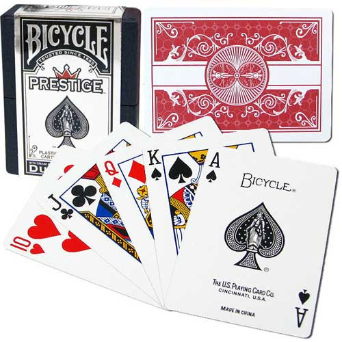 Bicycle Prestige Plastic Playing Cards, Red