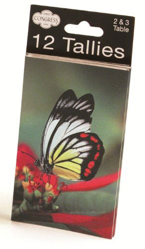 Congress Butterfly Tally Cards