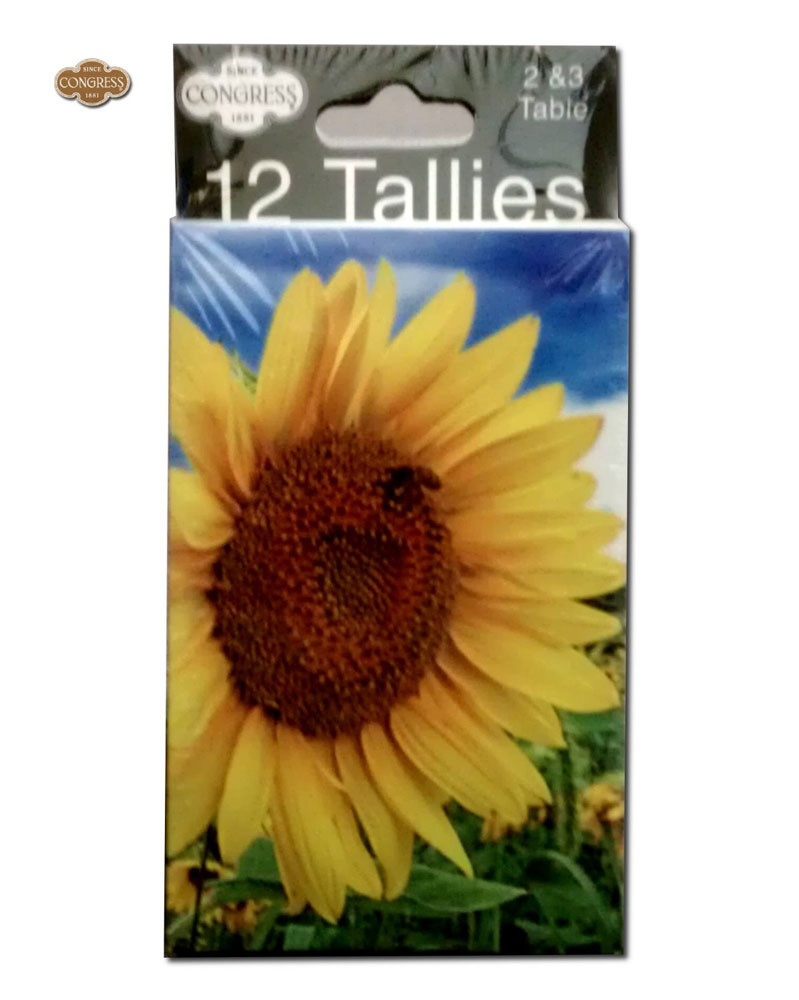 Congress Sunflower Bridge Tally Cards