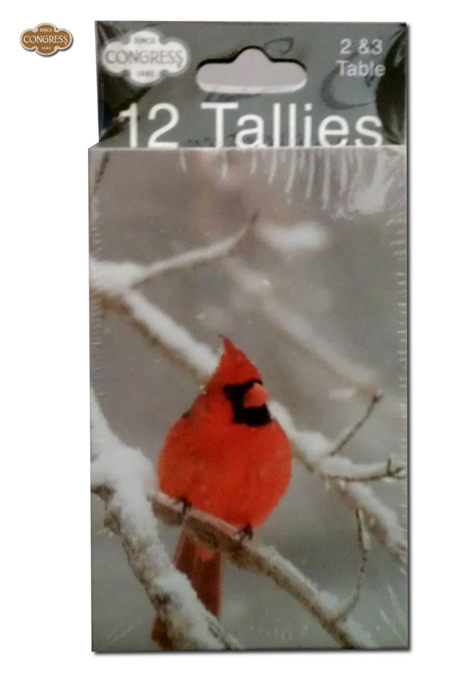 Congress Red Cardinal Bridge Tally Cards