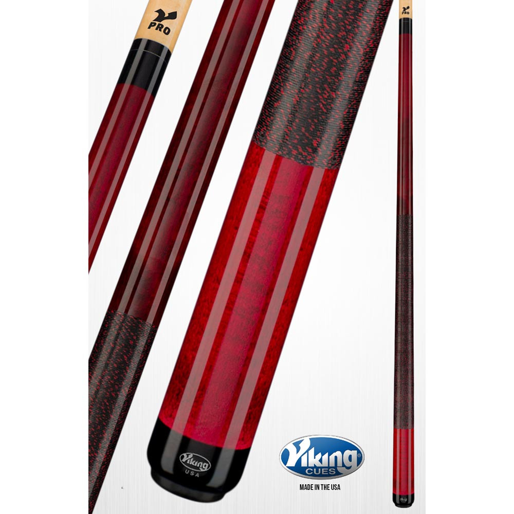 Viking A221 Black Cherry Red Pool Cue