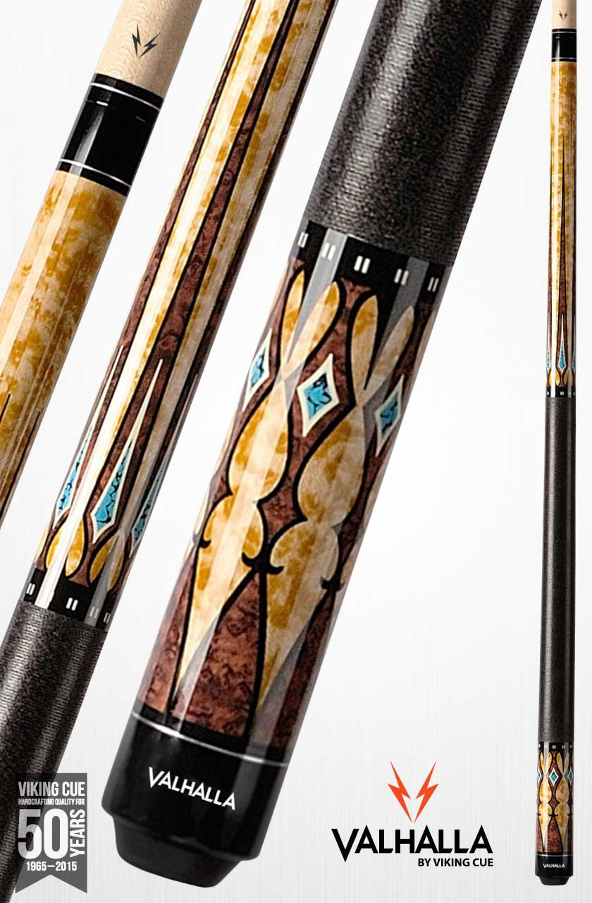 Viking Valhalla VA502 Brown/Turquoise Pool Cue
