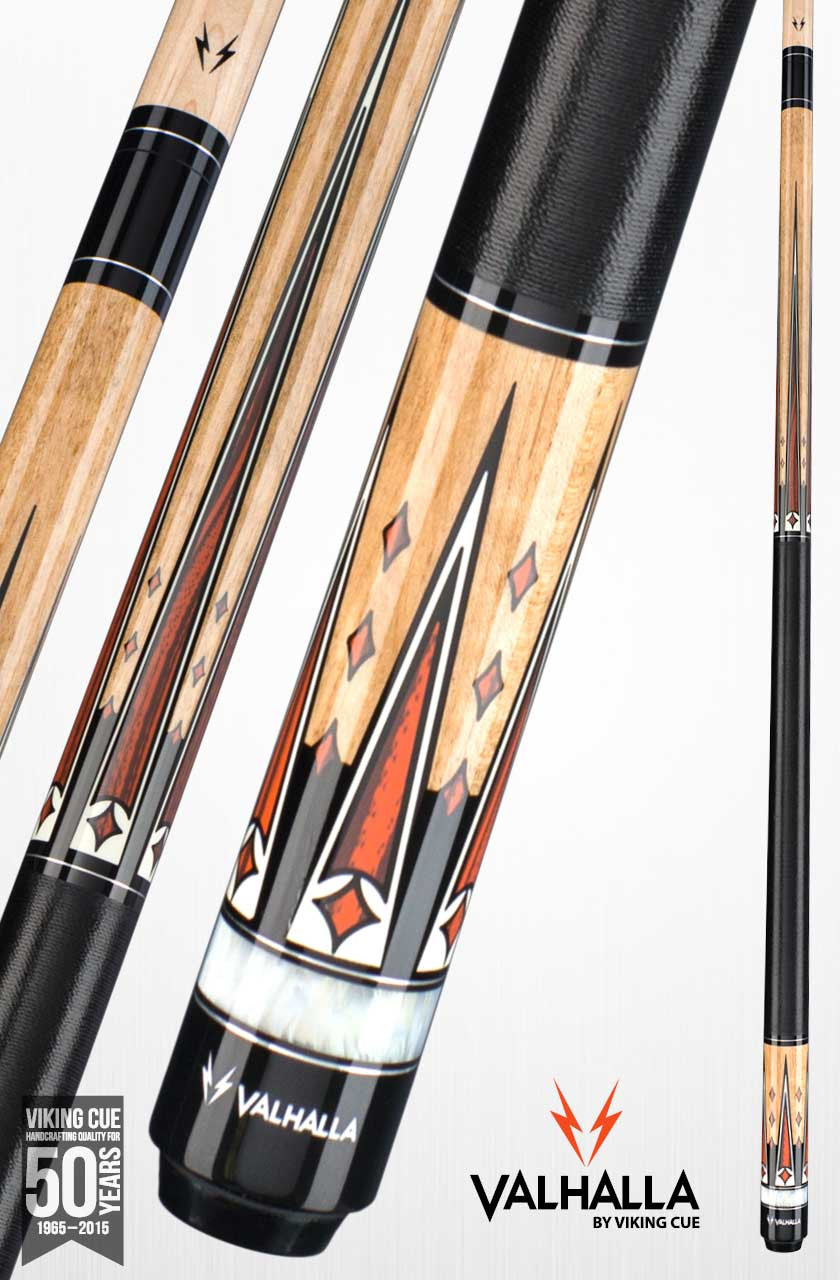 Viking Valhalla VA702 Natural/Red Pool Cue