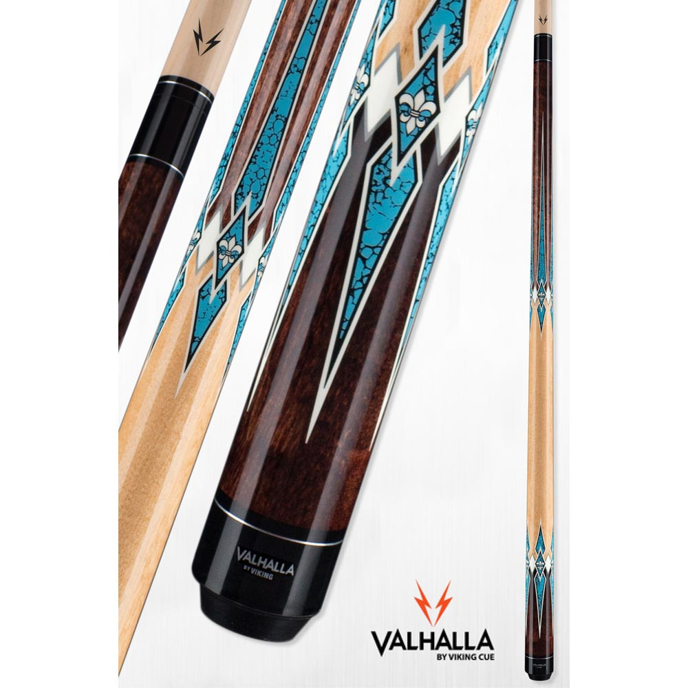 Valhalla VA891 Brown and Turquoise Pool Cue Stick from Viking Cue