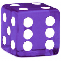 16mm Rounded Dice, Purple
