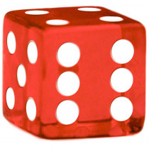 19mm Rounded Dice, Red