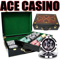 Ace Casino 14 Gram 500pc Poker Chip Set w/Hi Gloss Case