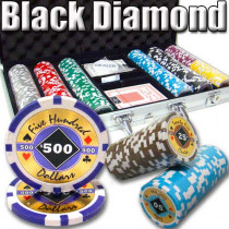 Black Diamond 14 Gram 300pc Poker Chip Set w/Aluminum Case