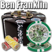 Ben Franklin 14 Gram 200pc Poker Chip Set w/Wooden Carousel