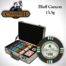 Bluff Canyon 300pc Poker Chip Set w/Claysmith Aluminum Case